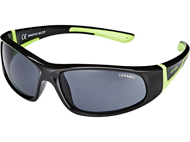 Alpina Flexxy Gafas Niños, black-green